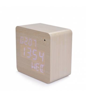 Horloge caméra espion Wi-Fi en bois