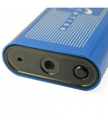 Briquet Camera Espion Bleu Vue Face