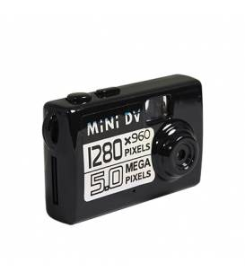 Mini Camera HD Noire Vue Face