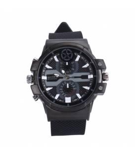 Montre Caméra Espion 2K 16GB Noire Allure Sportive Vue Face