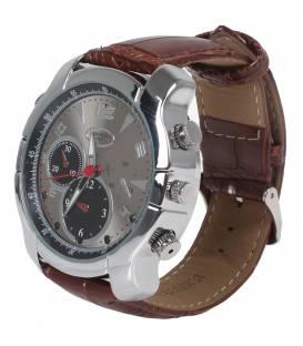 Montre Full HD 8GB bracelet cuir vision nocturne camera espion