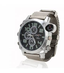 Montre Camera Espion Full HD 4GB Boussole et Calendrier Vue Face