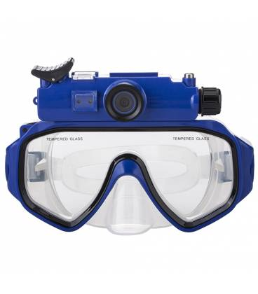 Lunettes de Plongée Caméra HD Vue Face Bleu