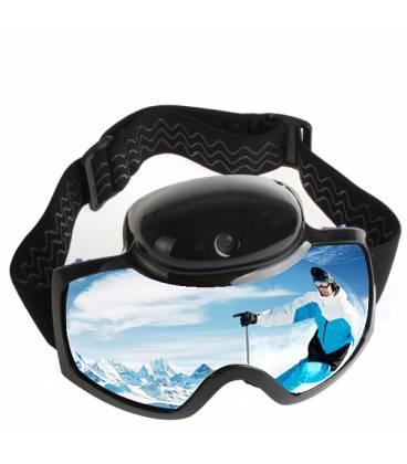 Lunettes de Ski Caméra Grand Angle HD Vue Face