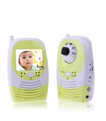 Moniteur Bébé Caméra Espion Ecran LCD 2,4 pouces Sans Fil Numérique Bidirectionnelle Vision de Nuit Vue Large