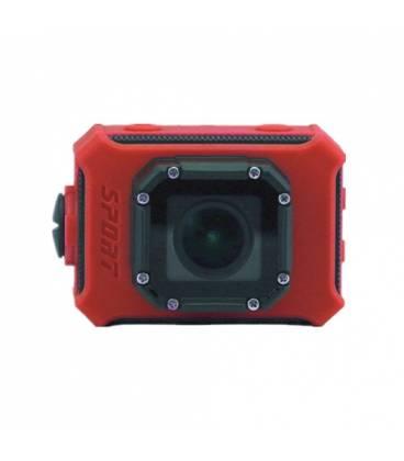 Mini Caméra Action Waterproof Ecran 2.0 pouces Super HD WiFi Vue Face Rouge