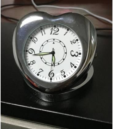 Horloge de Table Caméra Espion Coeur Vue de Face