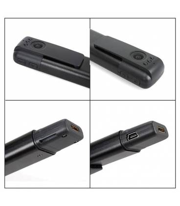 Marker Camera Espion Full HD Wifi noir Vue Zoom