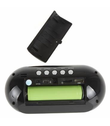 Réveil Caméra Espion Full HD Télécommande Vue Dos