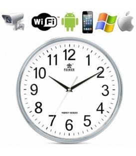 Horloge Caméra Espion Ronde Full HD Wifi Vue de Face