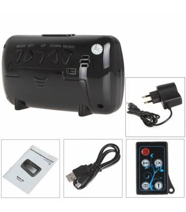 Réveil Caméra Espion Carré HD Télécommande Vue Détaillée