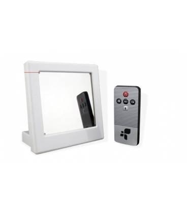 Reveil Camera Espion Miroir HD Télécommande Vue Face