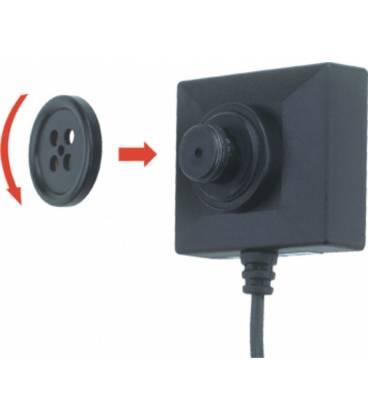 Mini Caméra Bouton avec Corde Vue Face