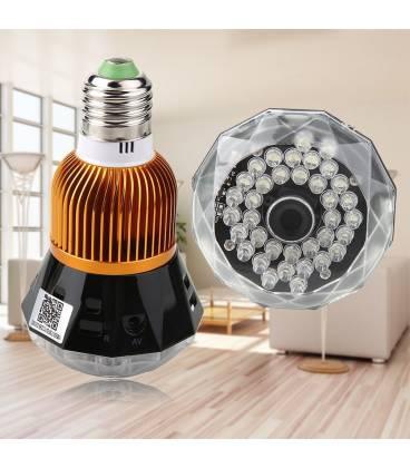 Ampoule HD Caméra Espion avec Vision Nocturne et Activation Vocale Vue Face