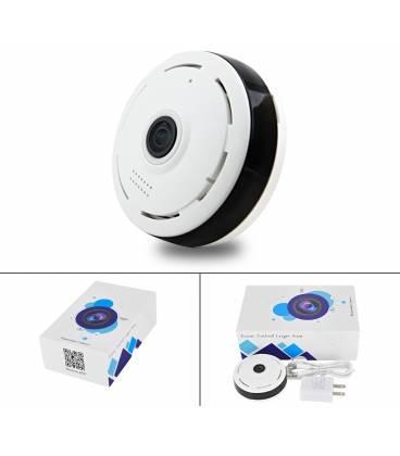 Détecteur de fumée caméra espion WIFI 360°