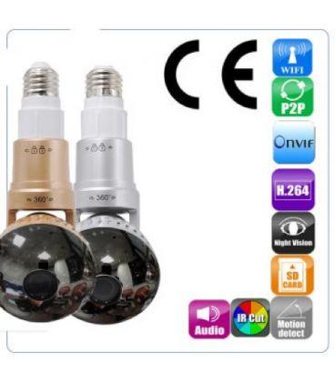 Ampoule iSmart LED caméra espion 3