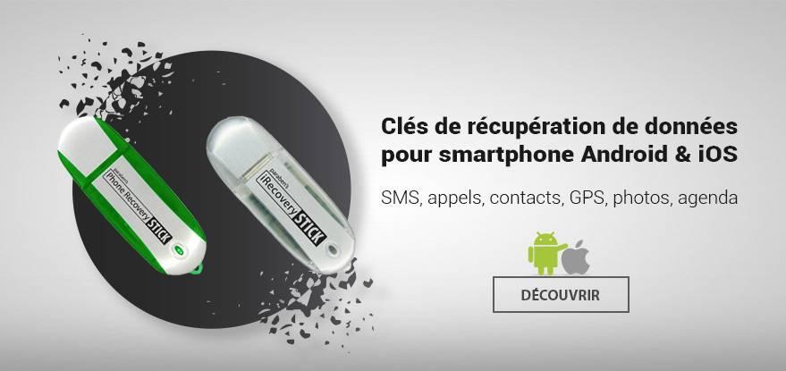 Clés de récupération de données pour smartphone