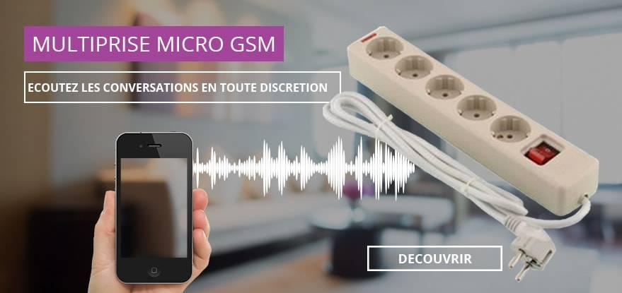 Multiprise espion micro gsm boutique espion